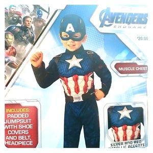 Avengers Endgame Captain America Costume 3T/4T